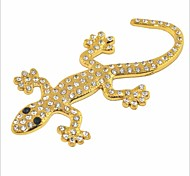 DIY 3D Stainless Steel Plating Crystal Gecko Car Decoration Sticker