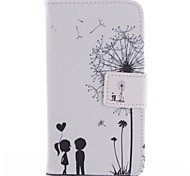Lovers dDandelion Design PU Leather Case Cover with Stand and Card Slot for Motorola MOTO G
