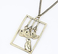 Z&X®  Vintage European Style Birds Pendant Long Necklace