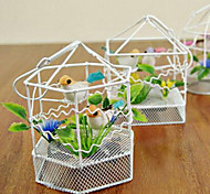 Voice-Control Singing Couple Bird Steel Cage Toys