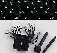 4.8m sor-20-28 energía solar copos de nieve de vacaciones cadena lámpara de jardín patio de luz decoración cadena 20led