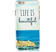 das Leben ist schön Muster hart zurück Fall für iphone 6 Plus
