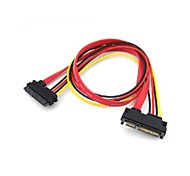 SATA 7 PIN + 15 PIN Male to Female Cable