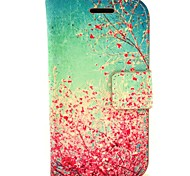Cherry Blossoms in Full Bloom PU Leather Hard Case with Card Slots for Samsung Galaxy Trend Duos S7562