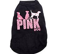 bonito mancha rosa padrão cão colete de algodão puro para cães (tamanhos variados)