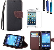 Für Kreditkartenfächer / Geldbeutel / mit Halterung / Flipbare Hülle Hülle Handyhülle für das ganze Handy Hülle Einheitliche Farbe HartPU
