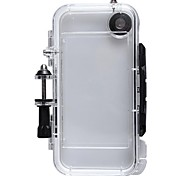 Waterproof PC Sports Camera Housing Case with Built-in Wide-angle Glass Lens for iPhone 5/5S
