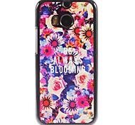 Always Blooming Design Aluminium Hard Case for HTC M8