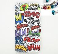 spina della polvere e il caso corpo lettera Modello in pelle PU con slot per schede e stand per iPhone 6
