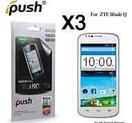 High Transparency HD LCD Screen Protector for ZTE Blade Q (3 Pieces)