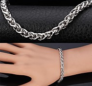 U7®Cool Men's 316L Stainless Steel Link Twisted Chain Chunky Bracelet Bangle for Men Never Fade