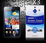 HD Screen Protector with Dust-Absorber for Samsung Galaxy S2 I9100 (3 PCS)