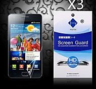hd Schirmschutz mit Staub Absorber für Samsung Galaxy S2 i9100 (3 Stück)