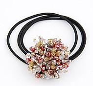 Korean Fashion Exquisite Dazzling Crystal Beads Hair Ties