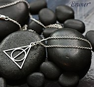 Fashion (Triangle Shape) Silver Alloy Pendant Necklace