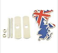 3d britannico stile nazionale bandiera decorazione griglia emblema per tuning auto