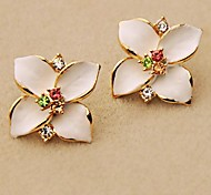 South Korea Imported Four Disc Flowers Lovely Earrings