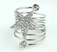 Love Is Your Silver Star Spring Band Ring
