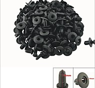 A0067 100 Pcs Car Interior Panel Trim Clips Black Plastic Rivet