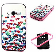 Para Funda Samsung Galaxy Antigolpes / Diseños Funda Cubierta Trasera Funda Corazón TPU Samsung Ace 4