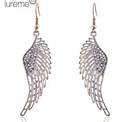 Lureme®Hollow Crystals Swing Wing Earrings