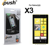High Transparency HD LCD Screen Protector for Nokia 520 (3 Pieces)
