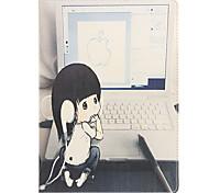 jugar el cuero de la PU caso de cuerpo completo modelo de ordenador para el aire ipad