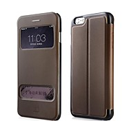 Baseus™ Pure View Case Series Flip-open Leather Case Double Windows Cover Flip with Stand Cover for iPhone 6 Plus