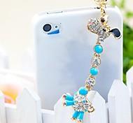 новый алмаз жираф 3,5 Anti-Dust Разъем для Iphone (ассорти цветов)
