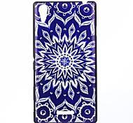 mandala azul patrón pc caso duro para sony xperia t3