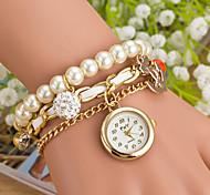 Wanbao женская мода жемчужина кулон браслет часы