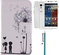The Dandelion Lover Design PU Leather Full Body Case with Screen Protector, Stylus and Stand for Motorola moto X