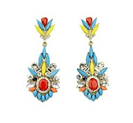 2014 New Arrivals Colorful Gemstone Hanging Drop Earrings Designs