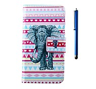 Elephant Pattern PU Wallet Leather Case and Pen with Stand for HTC One mini 2/ M8 mini