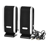 Mini USB Power 8W Speakers - Black + Silver (2 PCS)