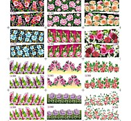 12Sheets/Bag Winter Art Nail Toes Stickers Decoration With 12 Style Different Flower Pattern