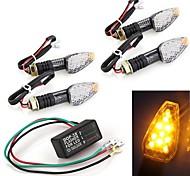 4 PC 10 LED ámbar vez motocicleta señal indicadora luz intermitente + relé intermitente