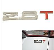 3D Cool 2.8 T Style Chrome Alloy Car Decoration Sticker