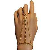 cadenas simples europeos aleación de mano (oro) (1 unidad)