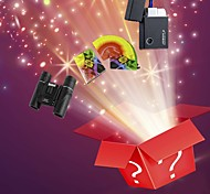 4pcs Christmas Lucky Bag--Jet Lighters,Magic Props,Microscopes & Magnifiers and Practical Joke Gadgets(Random Pattern)