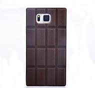 silicón de la piel de chocolate cubierta de la caja compatible para samsung galaxy g850f alfa