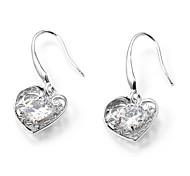 Earring Heart Drop Earrings Jewelry Party / Daily / Casual Copper Silver