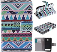 National Wind Patterns PU Leather Full Body Case with Stand and Card Slot for Sony Xperia E1
