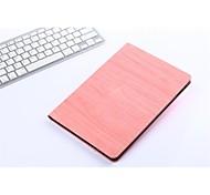 nouveau grain de bois pu couvrir intelligente cas de comprimés de sommeil pour ipad air (couleurs assorties)