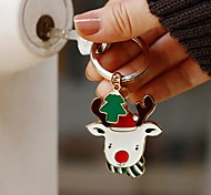 Personalized Christmas Reindeer Keychain
