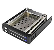 "Maiwo M003 SATA HDD Mobile Rack Drawer Caddy for 2pcs 2.5"" Mobile Hard Disk Drive"