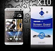 HD Screen Protector with Dust-Absorber for HTC ONE/M7 (10 PCS)