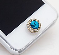 Stunning Satellite Stone Home Button Sticker for iphone4/4S(Assorted Color)
