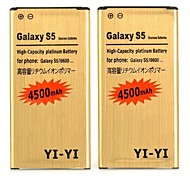2 PCS YI-YI™ High Capacity 3.8V 4500mAh Li-ion Battery for Samsung Galaxy S5 / I9600