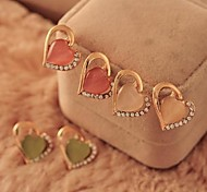 Damen Ohrring Legierung Opal Stud Earrings